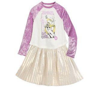 Disney Princess Rapunzel T-Shirt and Skirt Set